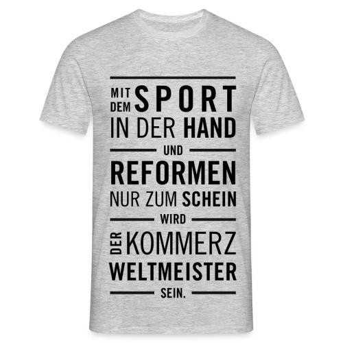 Fußball Lied - Männer T-Shirt