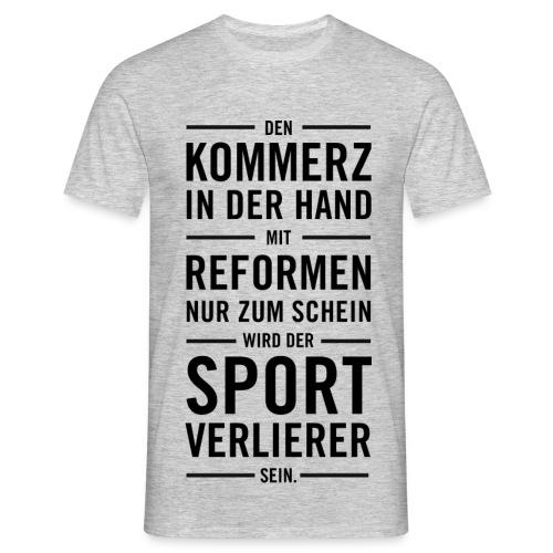 Sport Lied - Männer T-Shirt