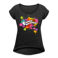 T-Shirts ~ Women's T-shirt with rolled up sleeves ~ Flotte Sprotte