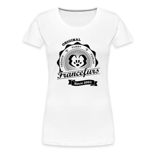 FranceFurs Original Noir - Modèle Femme (taille Spreadshirt) - T-shirt Premium Femme