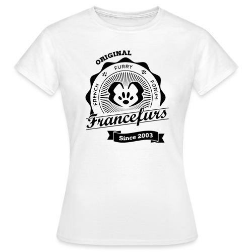 FranceFurs Original Noir - Modèle Femme (taille EU) - T-shirt Femme