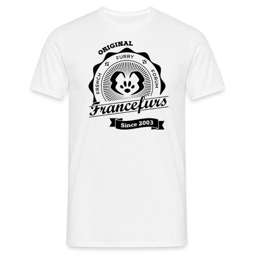 FranceFurs Original Noir - Modèle Homme (taille EU) - T-shirt Homme