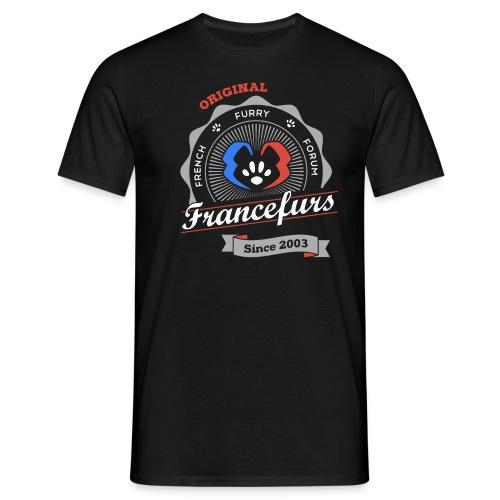FranceFurs Original Couleur blanc - Modèle Homme (taille EU) - T-shirt Homme