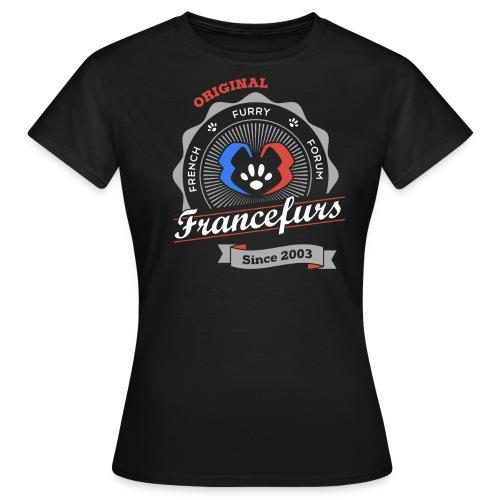 FranceFurs Original Couleur blanc - Modèle Femme (taille EU) - T-shirt Femme