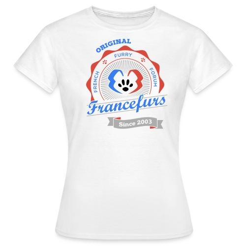 FranceFurs Original Couleur Noir - Modèle Femme (taille EU) - T-shirt Femme