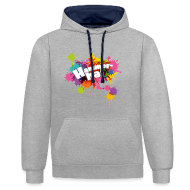 Hoodies & Sweatshirts ~ Contrast Colour Hoodie ~ Hammerhai