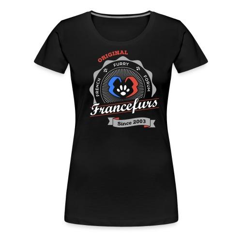 FranceFurs Original Couleur blanc - Modèle Femme (taille Spreadshirt) - T-shirt Premium Femme