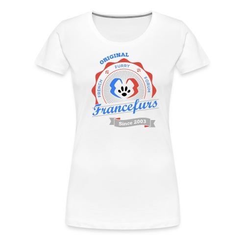 FranceFurs Original Couleur Noir - Modèle Femme (taille Spreadshirt) - T-shirt Premium Femme