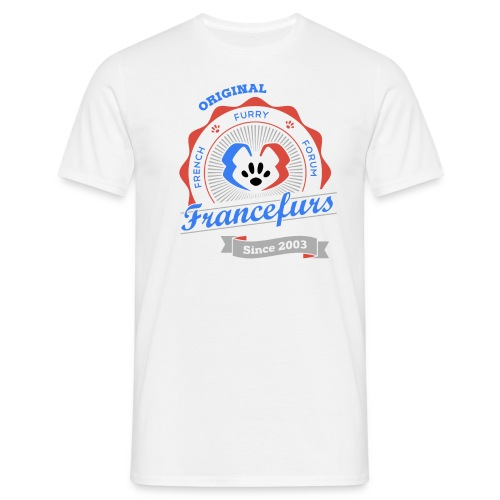 FranceFurs Original Couleur Noir - Modèle Homme (taille EU) - T-shirt Homme