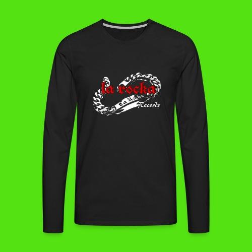 La Rocka Records - black'n'red - Men's Premium Longsleeve Shirt - Men's Premium Longsleeve Shirt