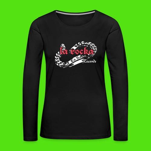 La Rocka Records - black'n'pink - Women's Premium Longsleeve Shirt - Women's Premium Longsleeve Shirt