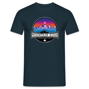 Mountain Kush / Sorte - male - Men's T-Shirt