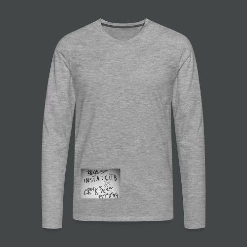 CITB Longsleeve Urbantaggprint - Männer Premium Langarmshirt