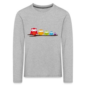 Colourful Owls - Kid's Longsleeve Shirt - Kids' Premium Longsleeve Shirt