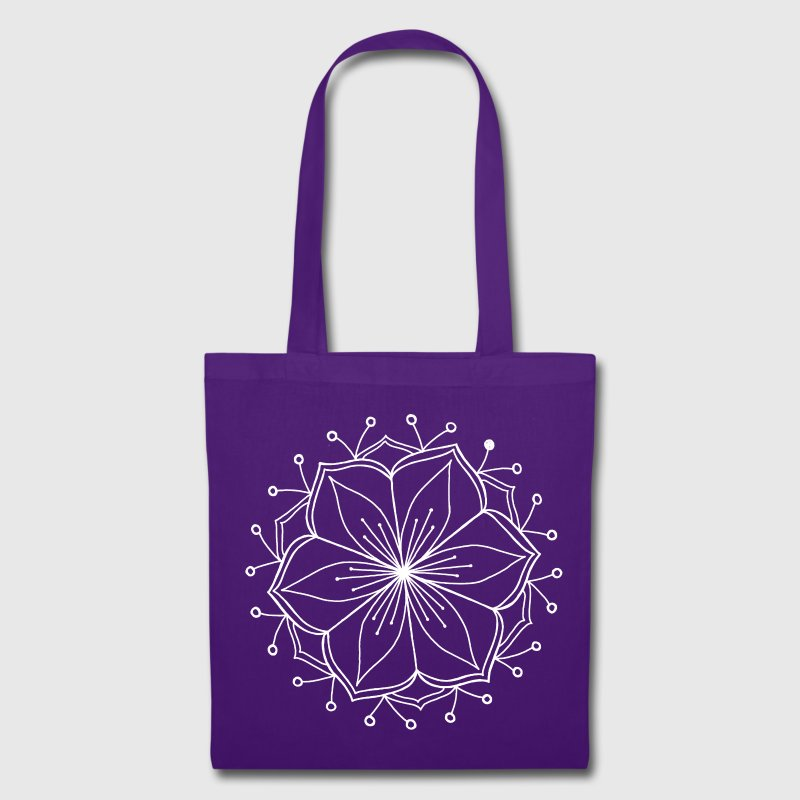 White Lotus Mandala - Tote Bag