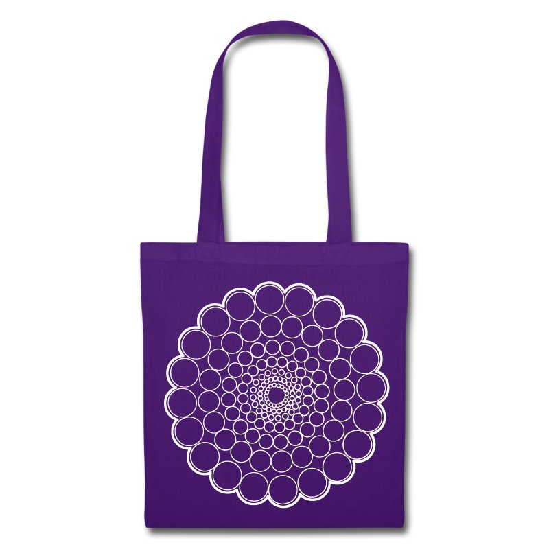 White Spectrum Mandala - Tote Bag