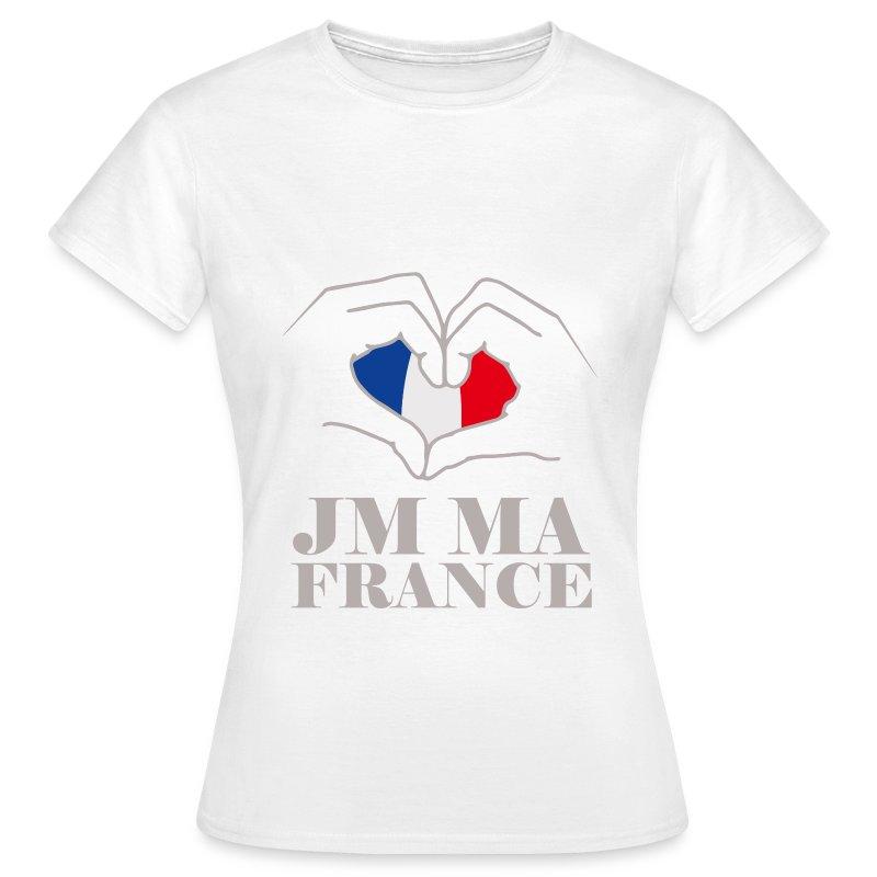 tee shirt drapeau fran ais j 39 aime ma france g spreadshirt. Black Bedroom Furniture Sets. Home Design Ideas