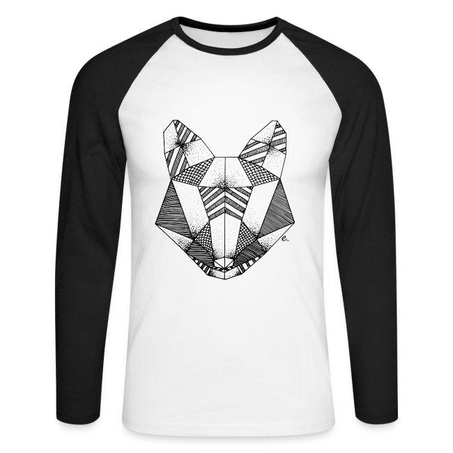 """T-Shirt Homme """"Tête de renard origami"""""""