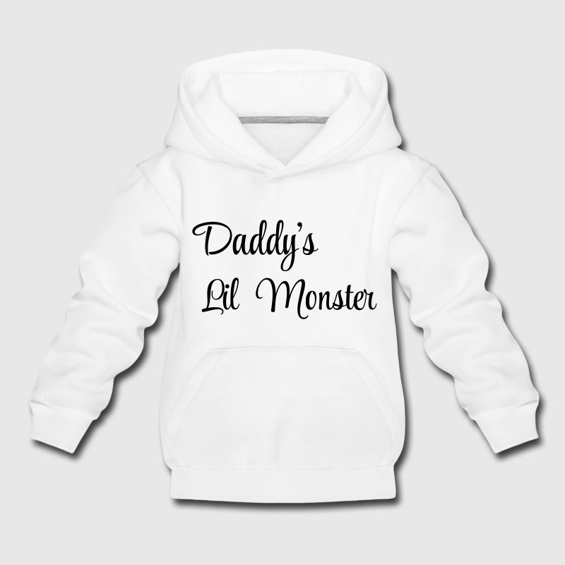 Daddy's little monster Hoodies - Kids' Premium Hoodie