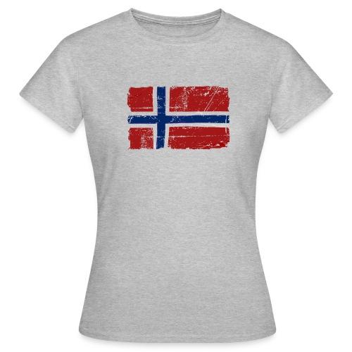 T-skjorte for kvinner, med norsk flagg - T-skjorte for kvinner