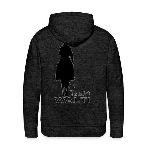 Adamo Walti model Dounette Logo : Flocage (Aspect velours) - Sweat-shirt à capuche Premium pour hommes