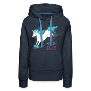 Sweat à capuche Freaking Unicorn - Sweat-shirt à capuche Premium pour femmes