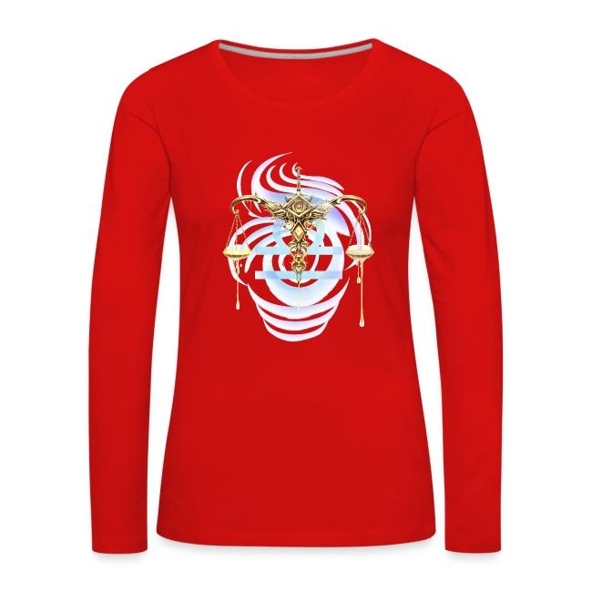 Libra Sun Women's Premium Longsleeve Shirt