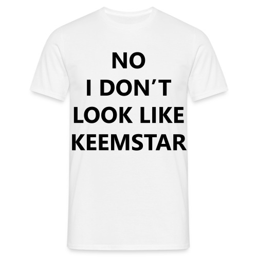 Keemstar Men's T-Shirt (White) - Men's T-Shirt