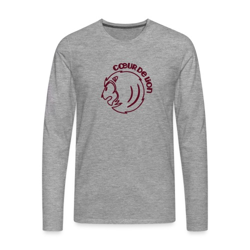 LV_sleeves_burgund - Männer Premium Langarmshirt