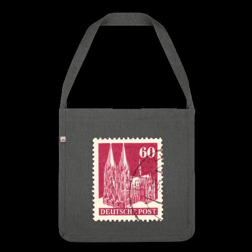 Köln Briefmarken (1948 Rot) Recycling Tasche - Schultertasche aus Recycling-Material