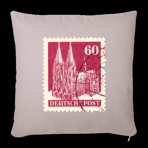 Köln Briefmarken (1948 Rot) Kissenbezug - Sofakissenbezug 44 x 44 cm