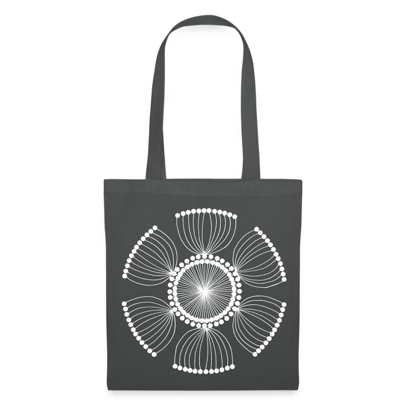 White Poppy Seed Mandala II - Tote Bag