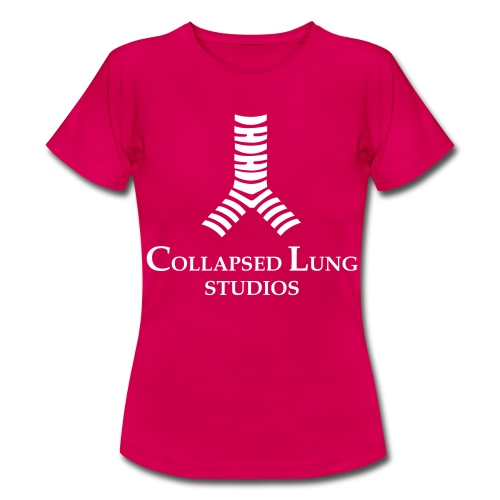 Collapsed Lung Studios Women's T-Shirt (Pink w/White Logo) - Women's T-Shirt