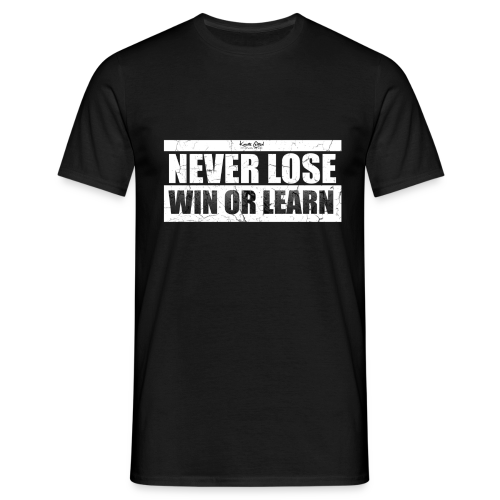 Win or Learn - Men's T-Shirt
