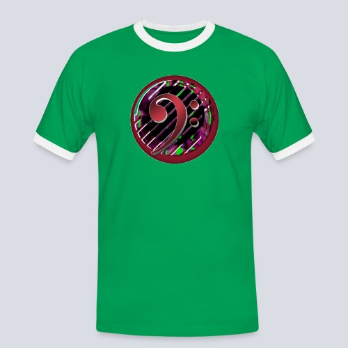 Bass clef Men's Ringer Shirt - Men's Ringer Shirt