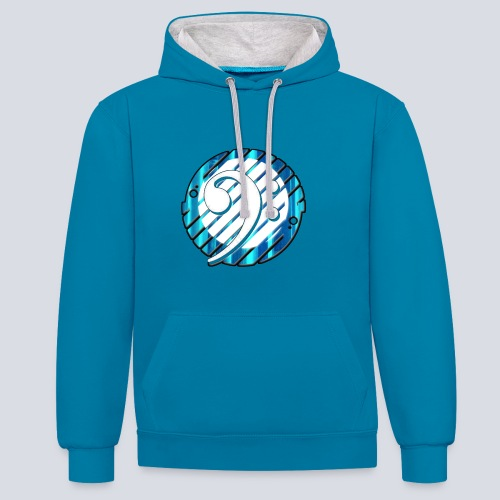 Bass clef Contrast Colour Hoodie - Contrast Colour Hoodie