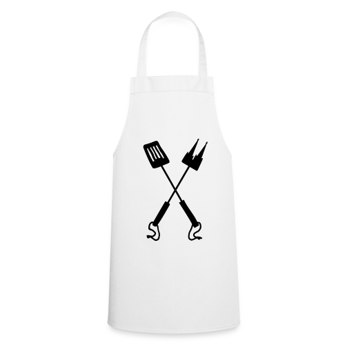 Kölner Grillbesteck Grillschürze (Weiß/Schwarz) - Kochschürze
