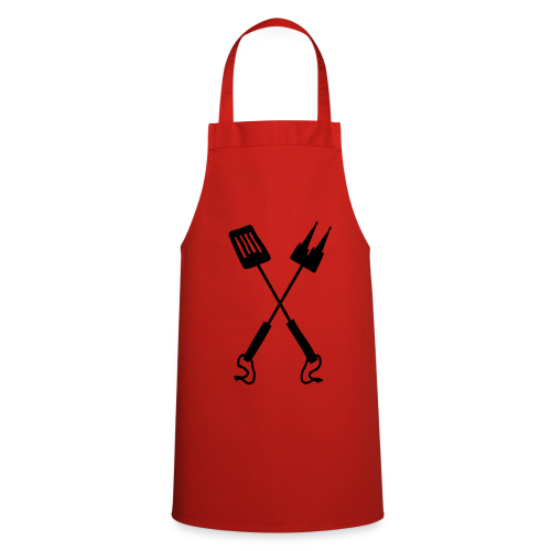 Kölner Grillbesteck Grillschürze (Rot/Schwarz) - Kochschürze