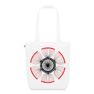 Red Poppy Seeds Mandala - EarthPositive Tote Bag