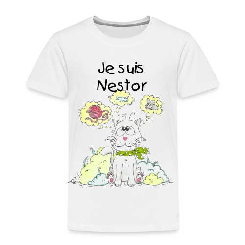 chat Nestor - T-shirt Premium Enfant