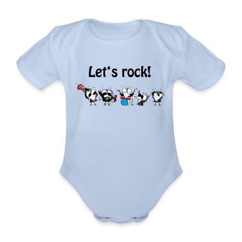 Let's rock! - Baby Bio-Kurzarm-Body