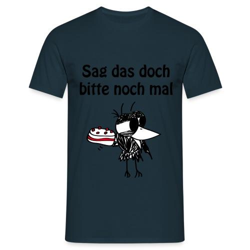 Torten-Rabe T-shirt - Männer T-Shirt