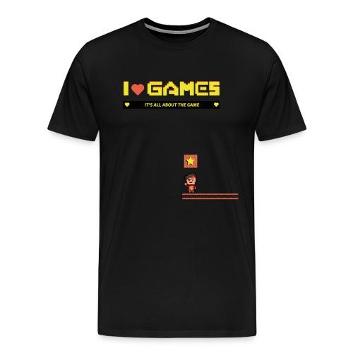 I Love Games Männer T-shirt - Männer Premium T-Shirt