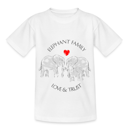 Elefant! Elephant Family Love And Trust Kinder T-Shirt - Kinder T-Shirt