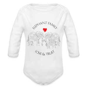 Elefant! Elephant Family Love And Trust Baby Langarm-Body - Baby Bio-Langarm-Body