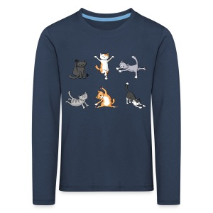 Yoga Cats - Kid's Long Sleeved - Kids' Premium Longsleeve Shirt