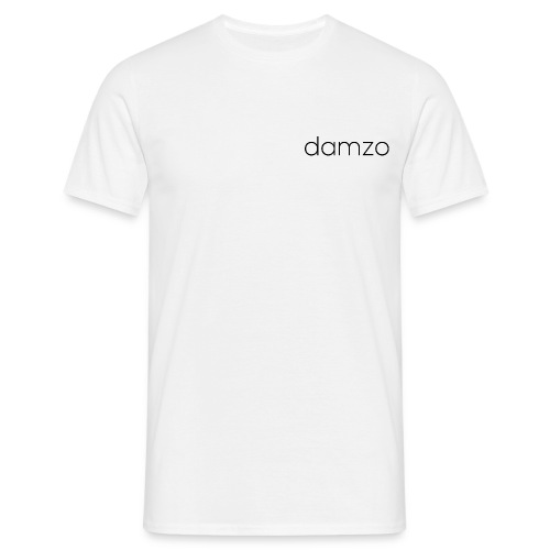 Mens Plain White Damzo Tee - Men's T-Shirt