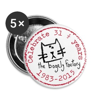 bogely factory anniversary badges - Buttons medium 32 mm