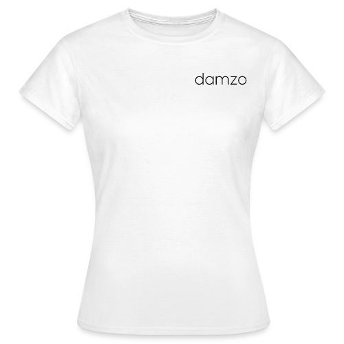 Womens Plain White Damzo Tee - Women's T-Shirt