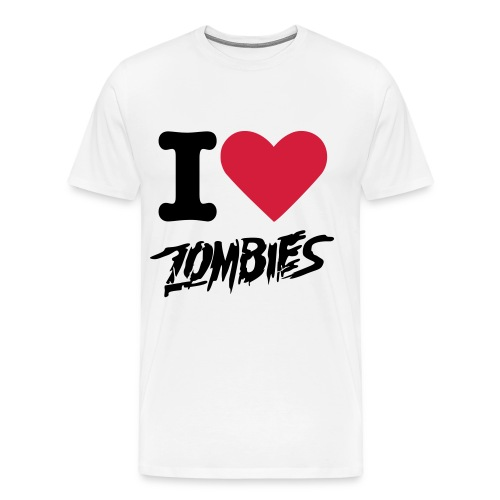 I Heart Zombies T-Shirt  - Men's Premium T-Shirt